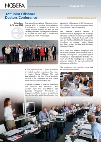 Enerjoy - speaker at int. offshore doctors meeting 2012