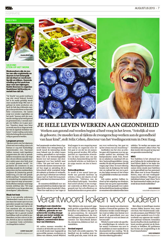 Mediaplanet interviewt Katrin Beersen van Enerjoy. Zie bijlage: Gezond ouder worden en vitaal werken.
