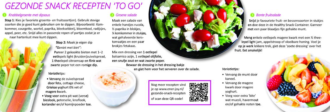 Gezond recepten to go 1 - voor Gezondheidsaward uitreiking - Enerjoy
