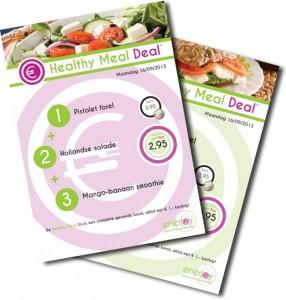 Healthy Meal Deal, het gezonde voordeel menu signing templates - Enerjoy