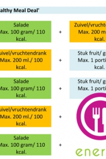 Combinatieoverzicht van de mogelijkheden van de Healthy Meal Deal