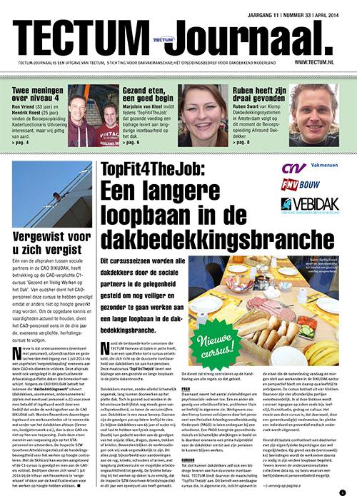 Tectum journaal voorpagina